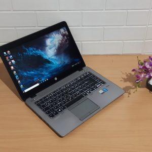HP EliteBook 820 G2 Intel Core i5-5300U ram 4GB ssd 180GB, layar 14-inch slim mewah body aluminium keyboard nyala