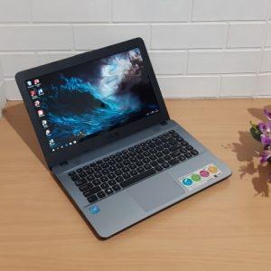 Laptop kekinian Asus X441NA intel N3350 ram 2GB hd500gb mulus elegan normal semua