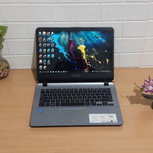 Asus A407M Intel Celeron Processor N4000 ram 4GB hdd 1TB, slim mulus mewah elegan