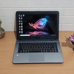 Asus X441BA AMD A9-9420 Ram DDR4 4GB hdd 500GB, normal semua