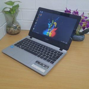 Laptop slim mulus elegan layar 11'6in ram 4GB Acer Aspire E3-112 normal semua ringan dibawa siap online