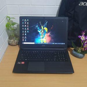 Laptop Grafis Acer Aspire A315-41 AMD Ryzen 7 ram 8GB DDR4 VGA AMD Vega 10 SSD 128GB+HD 1TB layar 15'6in mulus segel